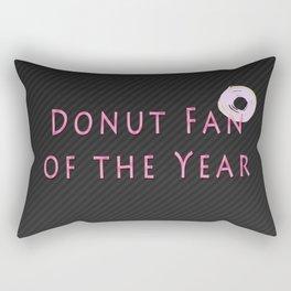 Donut Fan of the Year Rectangular Pillow