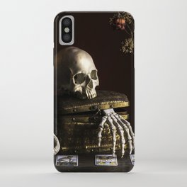 Vanitas, Memento Mori, Macabre Halloween Photo iPhone Case