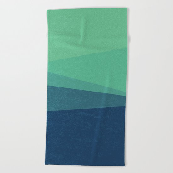 Stripe VIII Minty Beach Towel