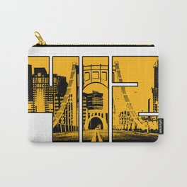 Pittsburgh 412 Steel City Skyline Pennsylvania Home Pride Print Carry-All Pouch