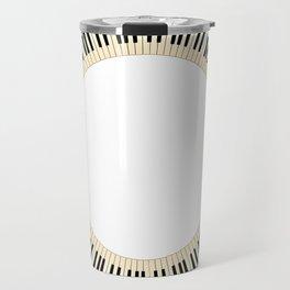 Pianom Keys Circle Travel Mug