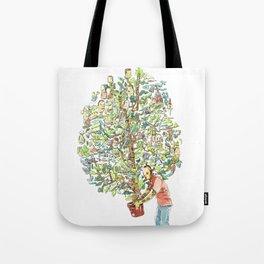 Doodle tree Tote Bag