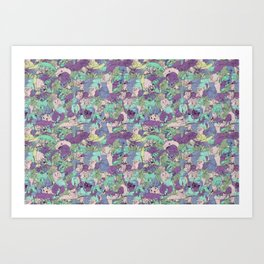 Crawlies party Art Print