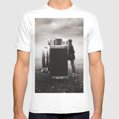Looking Through Time Mens Fitted Tee MEDIUM White