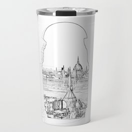 Budapest and hungarian parliament Travel Mug