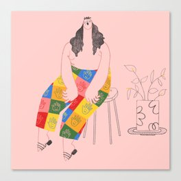 Rainbow hands Canvas Print