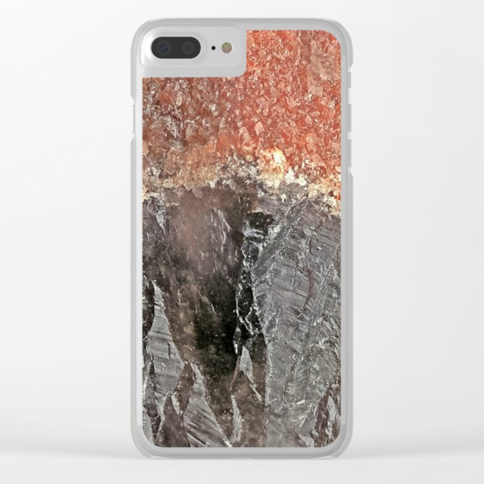 Red Capped Super Seven Clear iPhone Case
