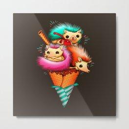 Hedgehog Ice Cream Metal Print