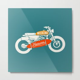 weekend pleasure riding Metal Print