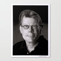 stephen king Canvas Prints featuring Stephen King by Giampaolo Casarini