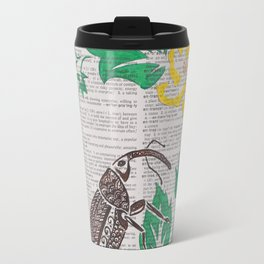 I Shall Fear No Weevil   (Boll Weevil and Cotton Blossoms) Travel Mug