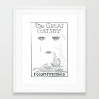 the great gatsby Framed Art Prints featuring The Great Gatsby by S. L. Fina