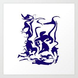 face9 blue Art Print