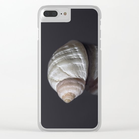 Seashell snail reflection Clear iPhone Case