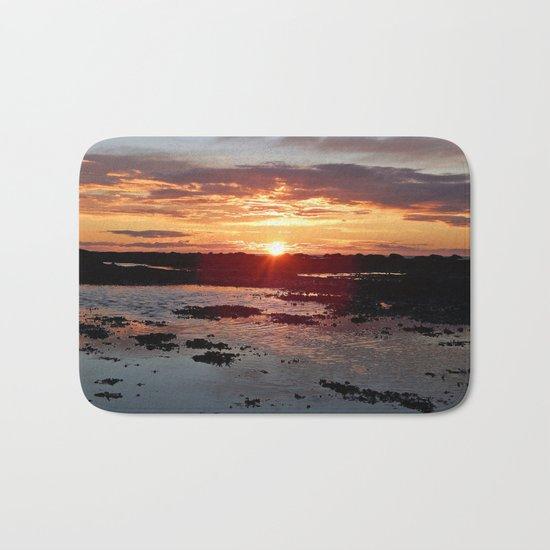 Sunset from the Beach Bath Mat
