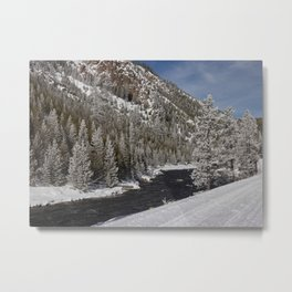 Carol Highsmith Snow Covered Conifers Metal Print