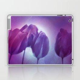 4 purple tulips on watercolor Laptop & iPad Skin