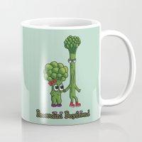 boyfriend Mugs featuring Broccolini Boyfriend by khalan