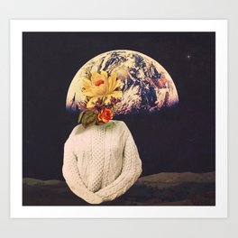 flowers from home Art Print