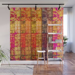 no. 235 pink orange brown red yellow gold pattern Wall Mural