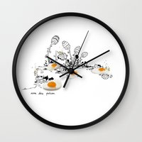 easter Wall Clocks featuring Easter by Ana Sofia Santos