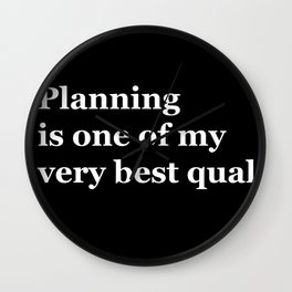Planning Wall Clock
