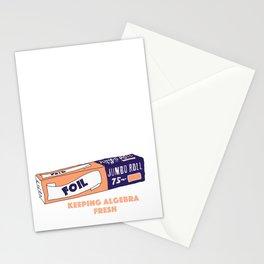 FOIL - Keeping Algebra Fresh Stationery Cards