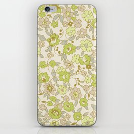 small vintage floral iPhone Skin