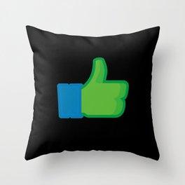 I Like Leonardo Throw Pillow