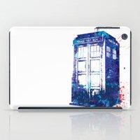 tardis iPad Cases featuring Tardis by lauramaahs