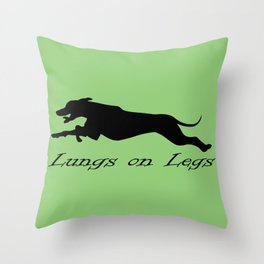 Lungs on Legs Throw Pillow