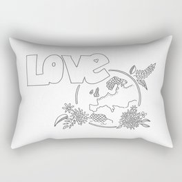 Love the earth Rectangular Pillow