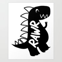 T-Rex : Rawr! Art Print