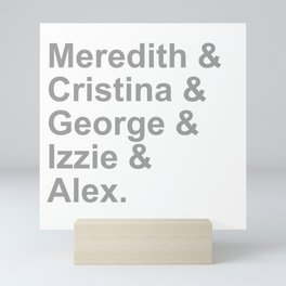Grey Squad Mini Art Print