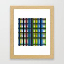 colorful striking retro grid pattern Nis Framed Art Print