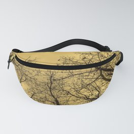 Creepy forest, orange sky Fanny Pack
