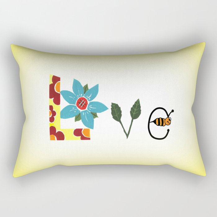 Bee Mine Rectangular Pillow