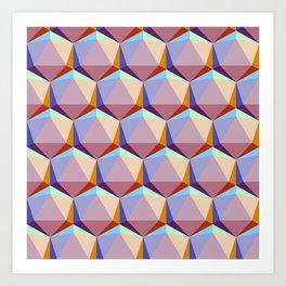 Icosahedrons Art Print
