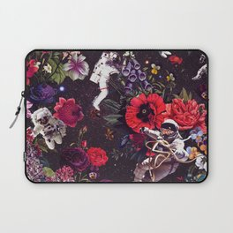 Flowers and Astronauts Laptop Sleeve