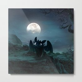 TOOTHLESS halloween Metal Print