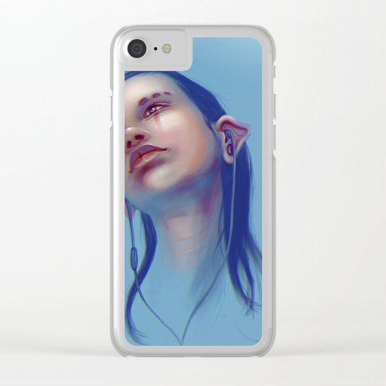 Sci-fi Music listening Clear iPhone Case