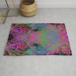 Witch Doctor Fire (psychedelic, ultraviolet) Rug