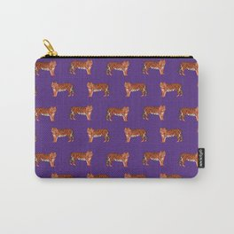 Tigers orange and purple clemson football fan varsity university college athletics Carry-All Pouch