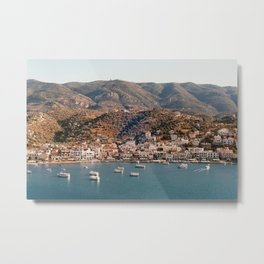 A small little island in Greece on film | Colorful small houses | Analog photography with a view | T Metal Print
