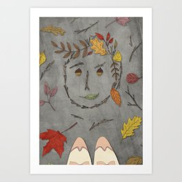 I see your face everywhere. Art Print