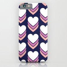 Sweethearts (Lavender & Pink on Dark Blue) iPhone 6s Slim Case