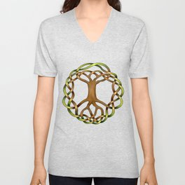 World Tree (Yggdrasil) Knot Unisex V-Neck