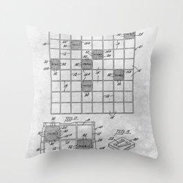 First Scrabble Throw Pillow