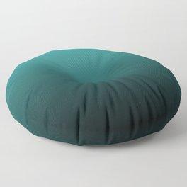 Teal Black Ombre Floor Pillow