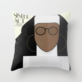 Sister Act, minimal Movie Poster, classic comedy film, funny, Whoopi Golberg, american cinema Throw Pillow